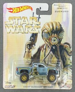 HOT WHEELS STAR WARS - BOUNTY HUNTER SERIES ZUCKUSS CHEVY SILVERADO OFF ROAD