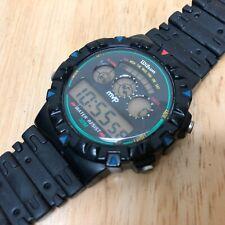 Vintage Wilson MVP Men 30m Black LCD Digital Alarm Chrono Watch Hour~New Battery