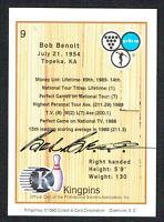 Bob Benoit #9 signed autograph auto 1990 Kingpins PBA Bowling Trading Card