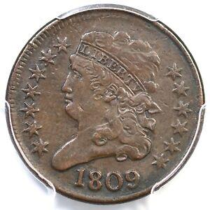 1809 C-4 R-2 PCGS VF 30 Classic Head Half Cent Coin 1/2c