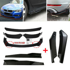 Glossy Black Side Skirt Rear Lip Front Bumper Spoiler Body Kit Universal Fits Toyota Yaris