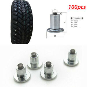100Pcs 9mm Car Motorcycle Tires Screw  Studs Spikes Wheel Snow Chains For Winter