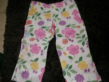 GAP KIDS SIZE 5 YEARS EUC CAPRIS PANTS FLORAL SPRING GIRL PINKS PURPLES STRETCH