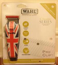 Wahl PROFESSIONAL Nuevo Pro Clip Británico Bandera Diseño Cortadora De Cabello * nuevo y en caja * * UK *