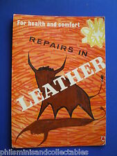 Shop Display Board/Standee  ' Repairs in Leather ' 1960s