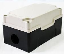 CAST ALUMINUM PUSH BUTTON BOX ENCLOSURE- IVORY/BLACK 2114