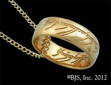 One Ring of Power, 24k Gold Plated, Licensed Lord of the Rings Jewelry, Hobbit