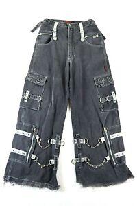 Tripp NYC Men's S Black Pants Zip Off Shorts Goth Grunge Vintage