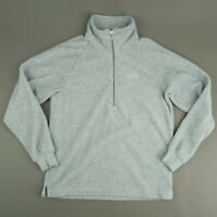 FILA Mens Large Gray 1/2 Zip Medium Pile Fleece Pullover Sweater Jacket