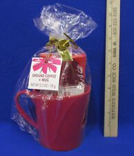 2014 Starbucks Gift Set Of Red Coffee Mug And Holiday Blend Ground Coffee