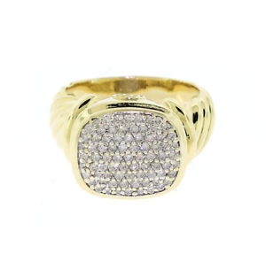David Yurman 18K Yellow Gold Noblesse Diamond Ring 0.85ct $5000 Sz 8.5