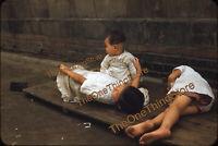 Seoul Korea Street Scene Girls 1950s 35mm Slide Red Border Kodachrome