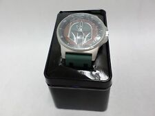 Star Wars Watch Boba Fett Resin Band Analog Metal Box by Accutime Brand New