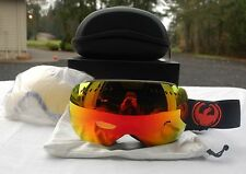 2015 NIB DRAGON APXS JET/RED IONIZED GOGGLES EXTRA YELLOW BLUE LENS $200