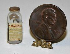 Dollhouse Miniature Ammonia Bottle Vintage Label Minis 1:12