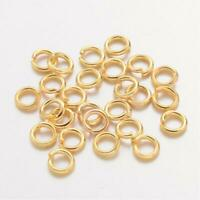 Jump Rings Gold Plated Brass 4mm, 5mm, 6mm 8mm, 10mm