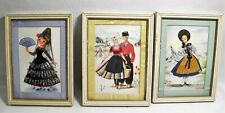 3 Assorted International Theme Vintage Pictures Switzerland Holland & Majorca 8""