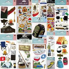 Jolee's CAMPING Camp Scrapbooking Crafts Stickers Scrapbook Summer Lake Boat