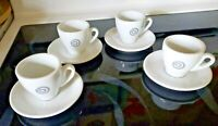 Set of 4 ~  Nuova Point Italy Coffee Espresso Cups and Saucers Made in Italy