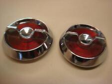 NOS GM USED Pair # 3822507 # 3824471 Door lock knob reflector Corvette C2  63-64