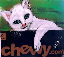 CAT  PAINTING Original SWARTZMILLER DNA SIGNED Pop Art Outsider Impressionist