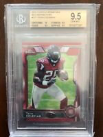 2015 TEVIN COLEMAN TOPPS CHROME MINI RED REFRACTOR BGS 9.5 ROOKIE RC /5 49ERS