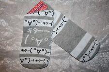 Calcetines señora con divertidas japonesa gestual-kaomoji 顔文字 katakana para japón Fan