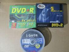 30 Stück DVD+R Rohlinge 4,7 GB (20x i-base, 5x Platinum, 5x Octron) OVP lesen
