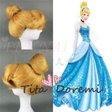 Halloween Wig Costume Cinderella Gold Cosplay Heat Resistant