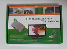 S-video BNC Composite To VGA Converter Adapter+VGA Cable For PC/LCD Camera