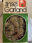 Vintage Brite Star Gold/Silver Tinsel Garland 12' Christmas Flameproof