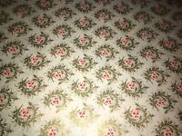 VTG CHRISTMAS STORE WRAPPING PAPER 2 YARDS GIFT WRAP HOLLY WREATH ART DECO