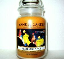 """Yankee Candle """"Remembrance""""~L ight The Night ~ Large 22 oz ~ Rare~Collector's~New"""