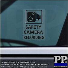 4 x SAFETY Camera Recording Warning Stickers-BLACK-CCTV Sign-Car,Taxi,Cab,Van