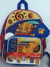 Disney The Lion King Bonus 5 Piece Back To School Bookbag Set - NWT