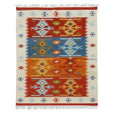Hand woven Turkish Carpet 4' x 6' Anatolian Kilim Traditional Wool Kilim Carpet