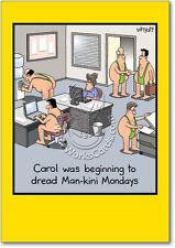 Man-kini Humor Greeting Card Birthday Card