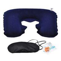 Kit de Voyage : oreiller support cou + masque de voyage + bouchons d'oreilles