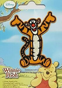 TIGGER FROM WINNIE THE POOH Disney Official Iron on Applique Motif Patch 33938
