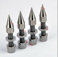 4pcs M8*60 Speaker Spike Anti-Shock Spike Cone Isolation Spike Stand Foot AMP