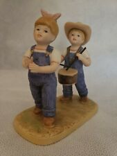 """Home Interiors Denim Days Danny & Debbie"""" Fourth Of July """" Figurine Collectible"""