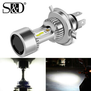 H4 9003 HB2 CSP LED Bulb Hi/Lo Beam White Motorcycle Headlight High Power w/ Fan