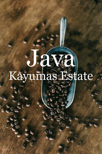 5 -15 lbs. Indo-Pacific Java Estate Kayumas Fresh 100% Arabica Coffee Beans