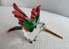 Hummingbird Solid Glass Ornament - Jewel Eyes  -  Garden Mobile NEW