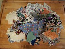 "332+ Vintage Feedsack Quilt Blocks Cotton Fabric Pieces 3""x 2.5 Flour Sack Star"