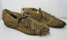 LONE RANGER Movie Prop Johny Depp Native American Leather Shoes Moccasin indian
