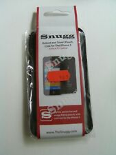 Iphone 5 Black Snugg Pouch Case PU Leather New