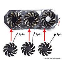 T128010SM 2 Pin / 3 Pin 75MM Grafikkartenlüfter Cooling Fan für Gigabyte GTX 970