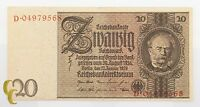 1929 Germany 20 Mark (XF+) Extremely Fine Plus Condition