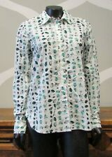 Gap White Green Lady Bug Print 100% Cotton Button Up Shirt - Small